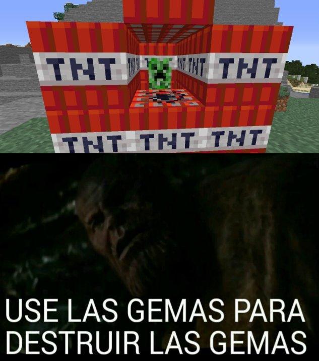 use la gemas para destruir las gemas - meme