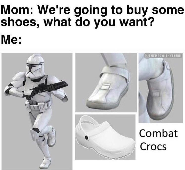 combat crocs - meme