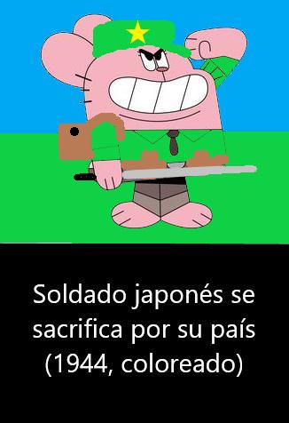 El título se fue a cazar imperiales japoneses a sus colonias orientales - meme
