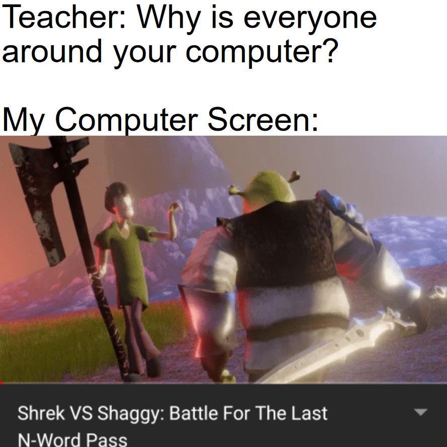 Shrek wins spoiler - meme