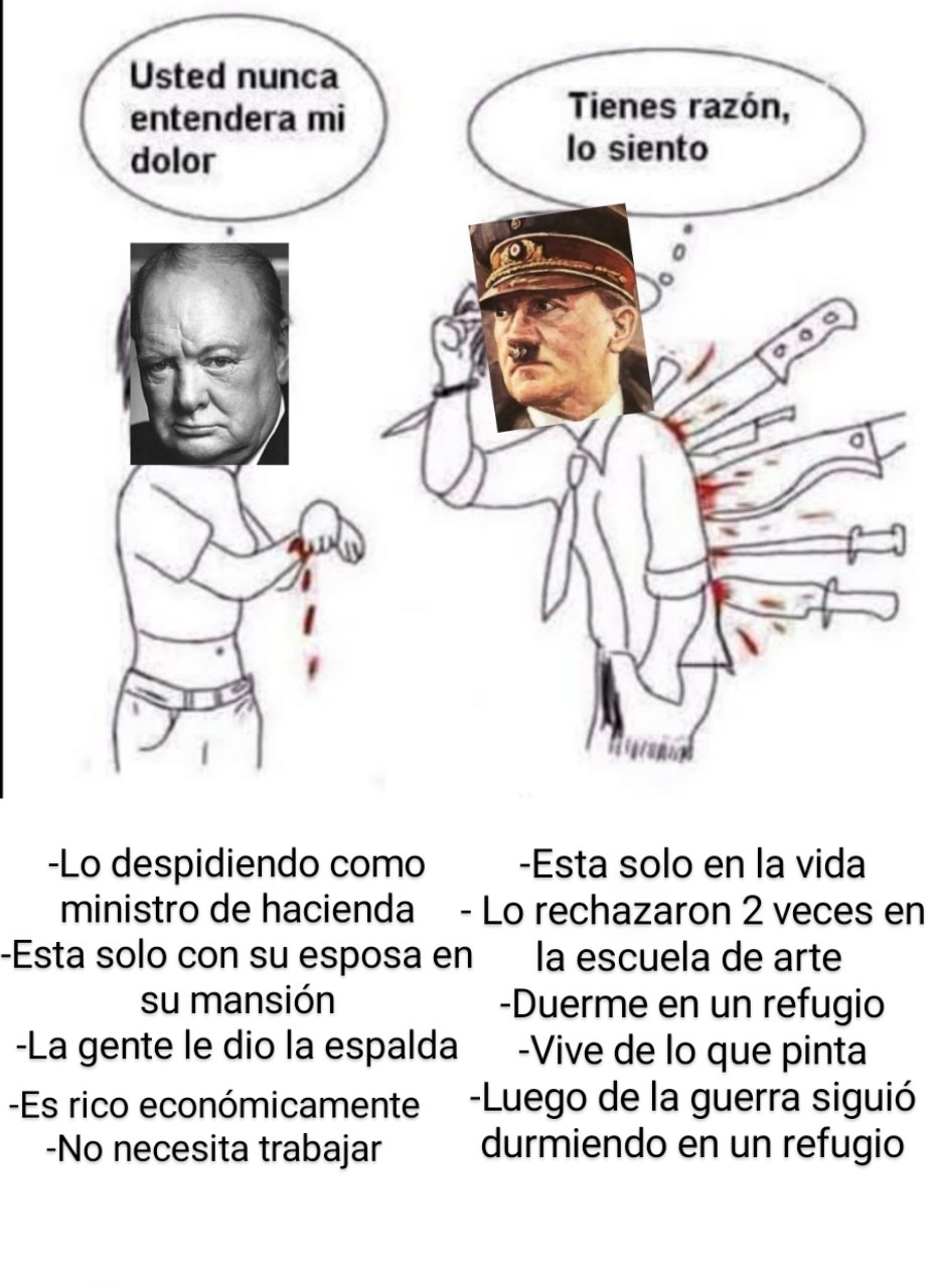 Churchill comete mis pantalones - meme