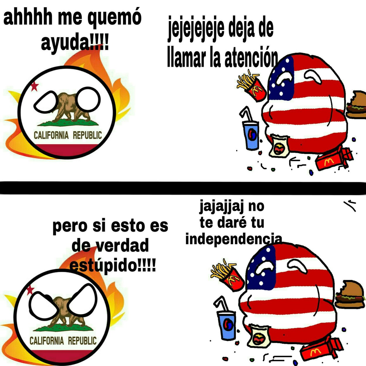 California vs usa - meme
