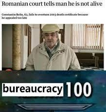 Bureaucracy 100 - meme