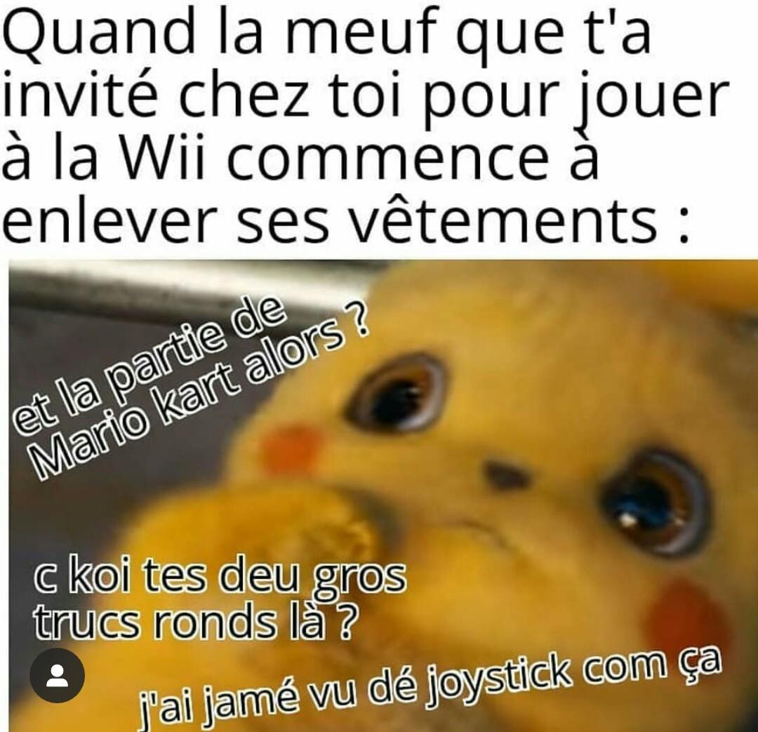 Le titre joue à la Wii - meme