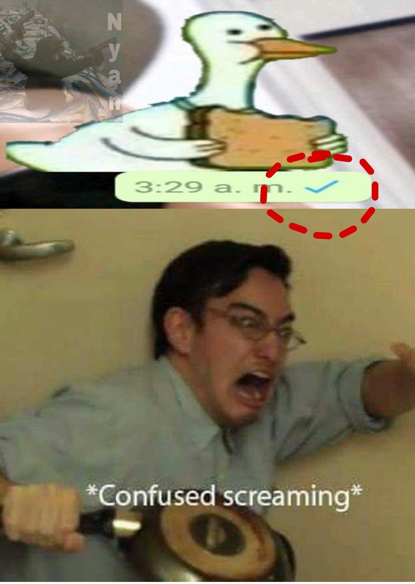 También la hora está buenarda - meme