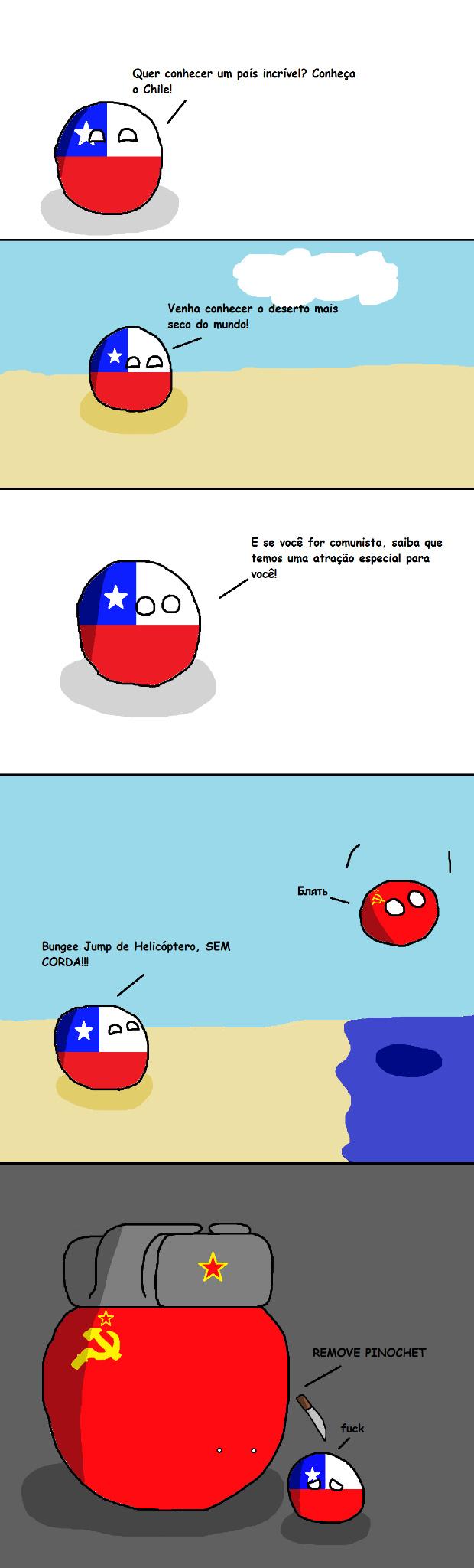 Chile e os comunistas - meme
