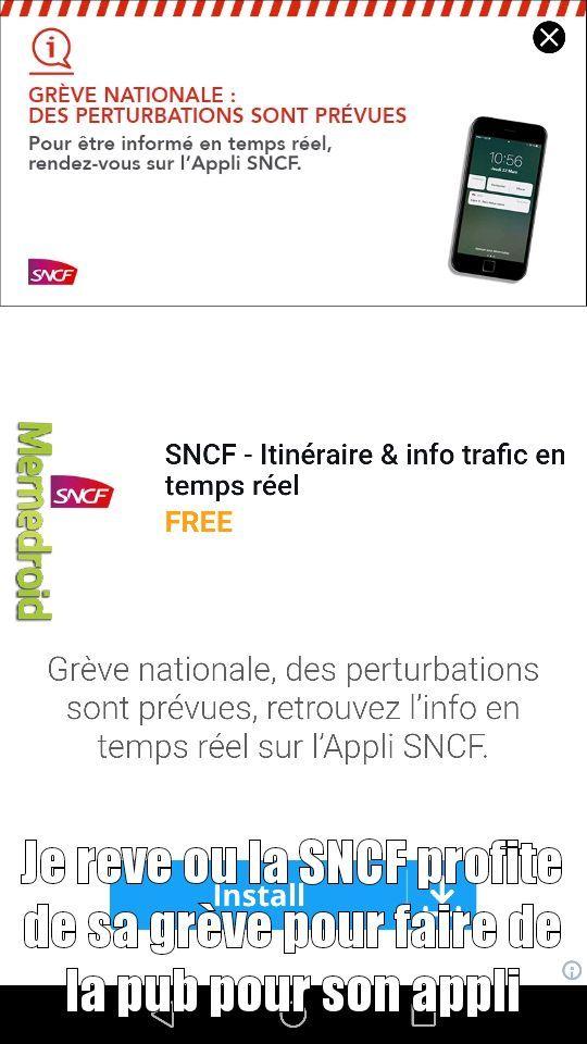 SNCF.... Des génies - meme