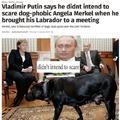 Angela Merkel does not like dogs