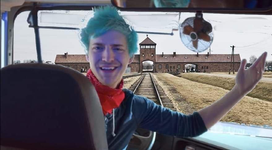 Mapa del forniche de Auschwitz - meme