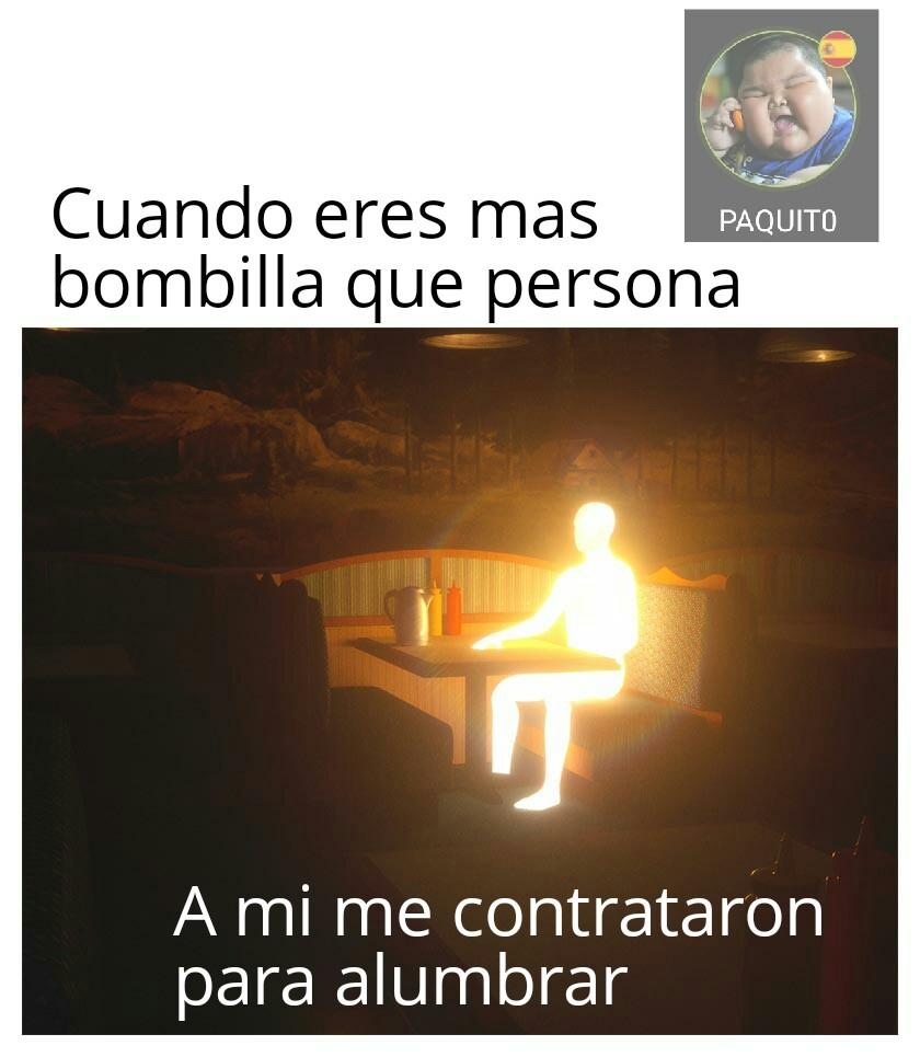 oh Dios luz no oh Dios luz no por favor - meme
