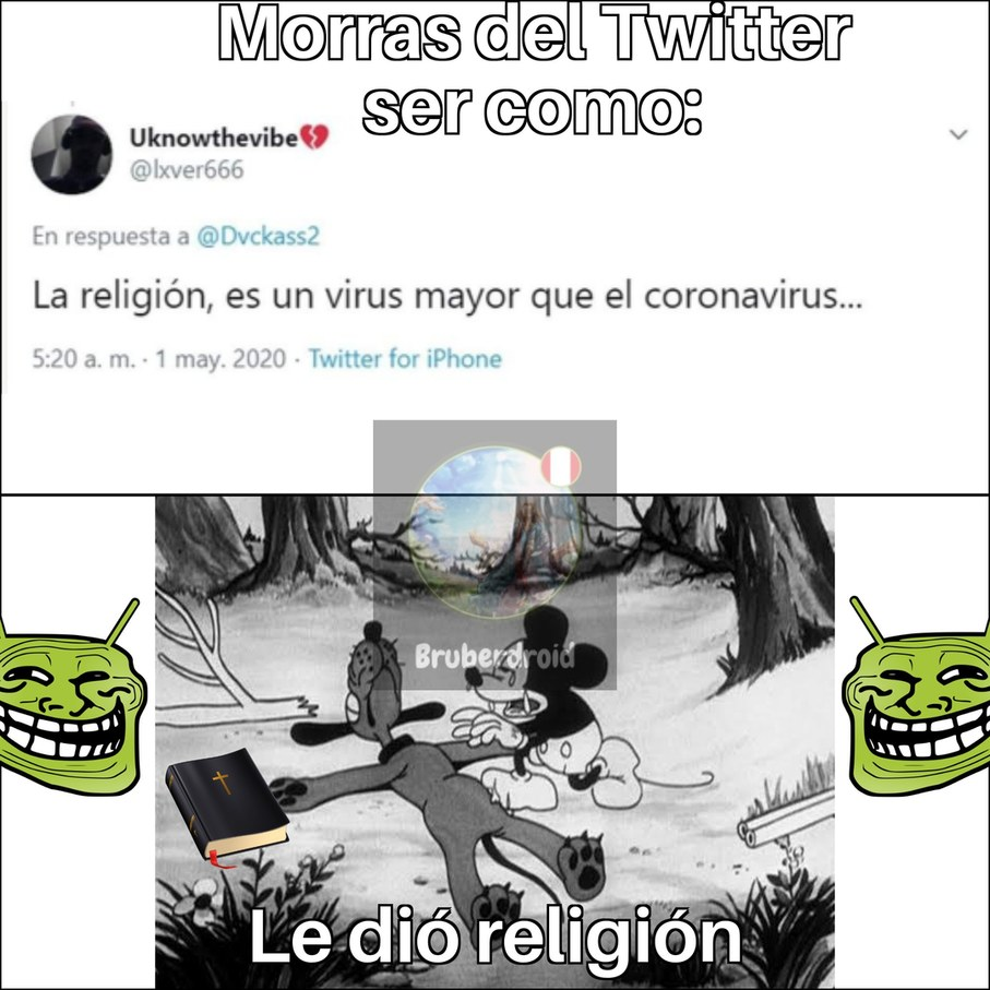 Me dió religión :sadtroll: * se muere * - meme
