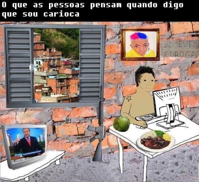 Nem todo carioca gosta de agua de coco - meme