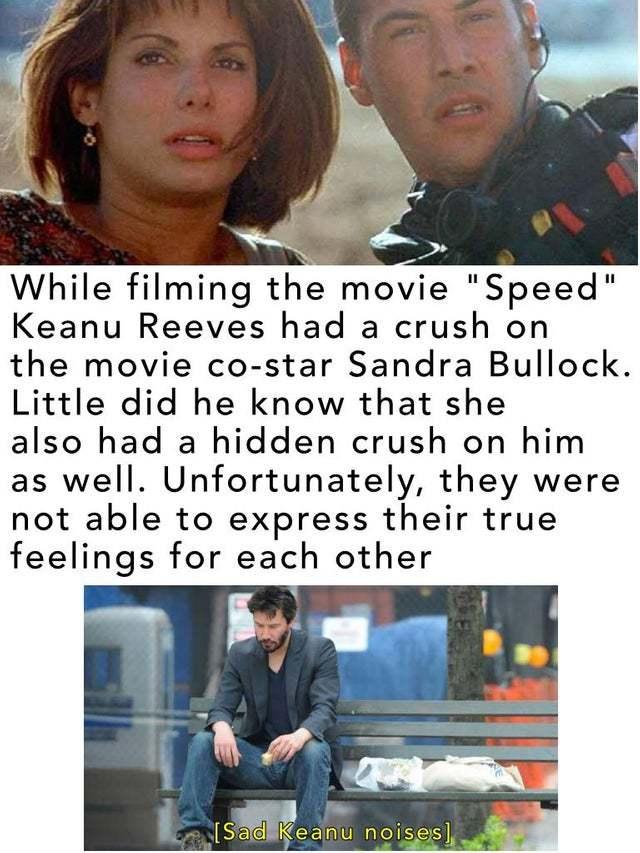 Good Keanu could have banged Sandra Bullock - meme