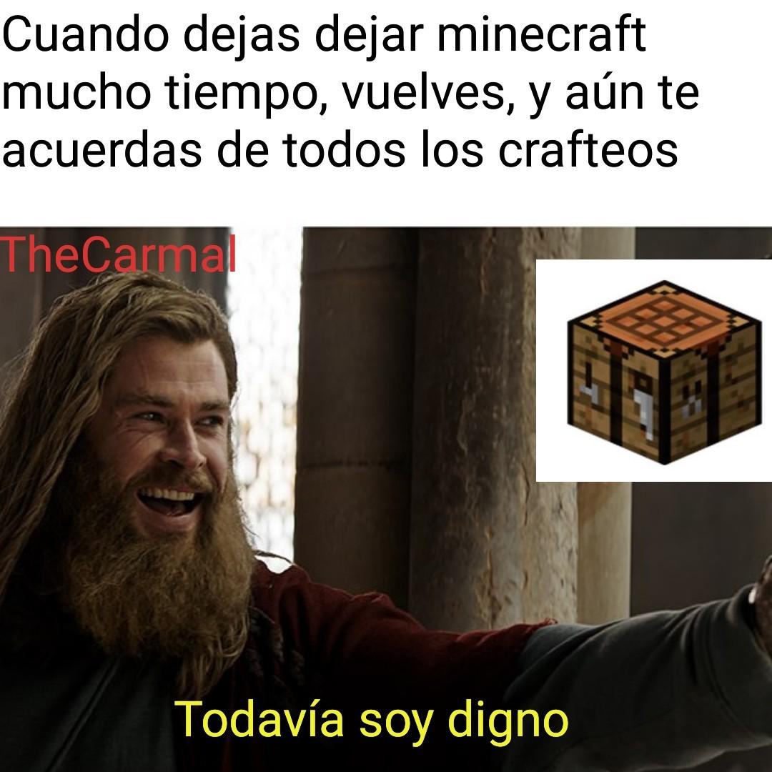 Digno del Minecraft - meme
