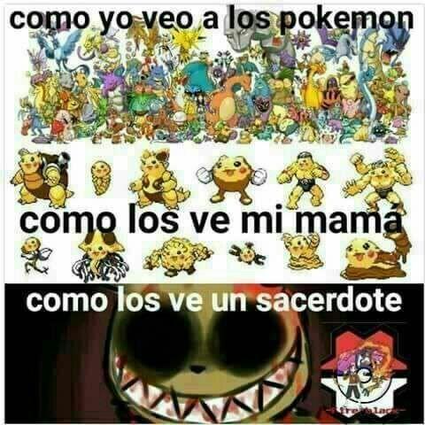 Cristianos y pokemon - meme