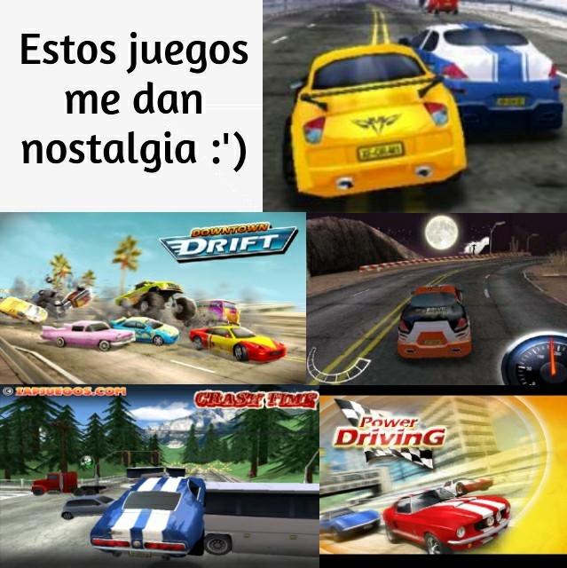 Estos SÍ eran juegos de carreras - meme