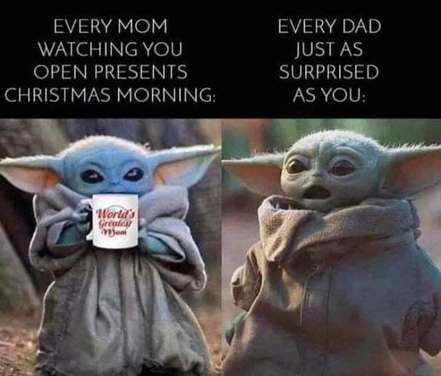 Mom and dad every Christmas - meme