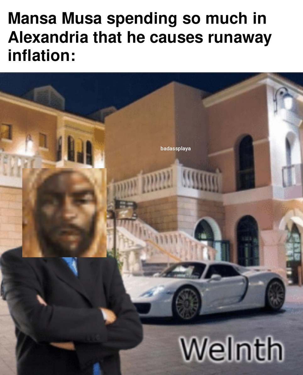 Flexing on his way to Mecca - meme
