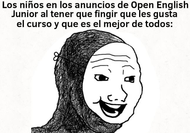 Open English = :soyjakb: Duolingo = :chad: - meme