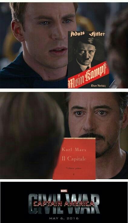 Capitan america è nazi ( ͡° ͜ʖ ͡°) - meme