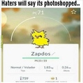 zapdos is real