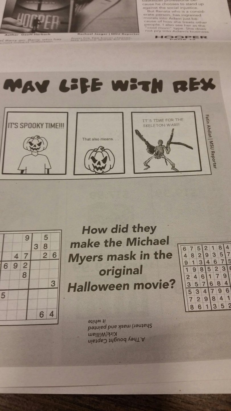 This was done by my University newspaper. Is this good or bad spooky newspaper? - meme