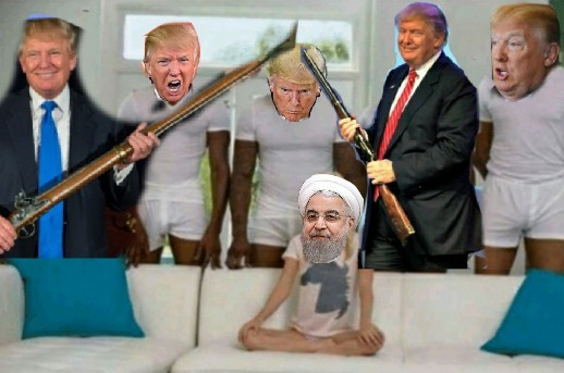 Trump vs rohani - meme