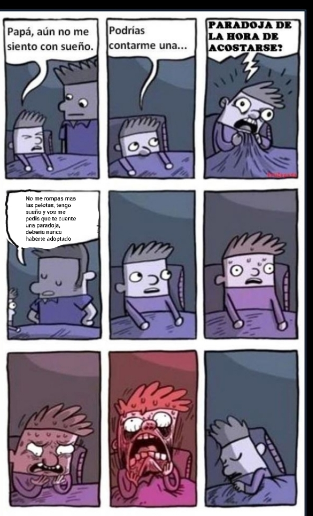 Paradoja para dormir - meme
