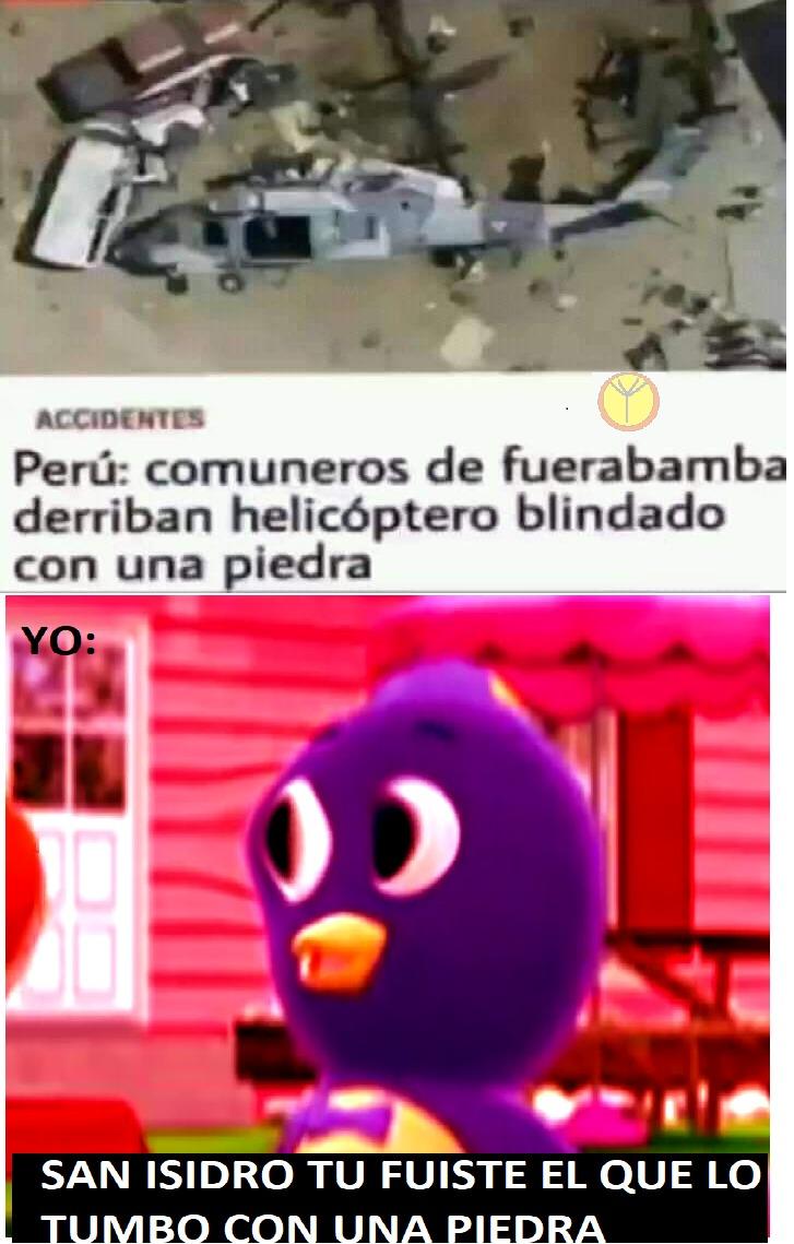San Isidro en Perú  - meme