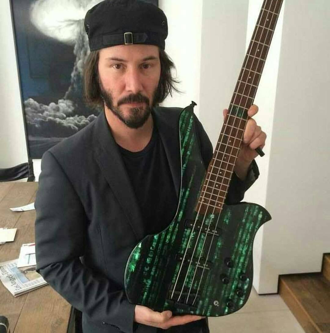Keanu's custom Matrix bass - meme