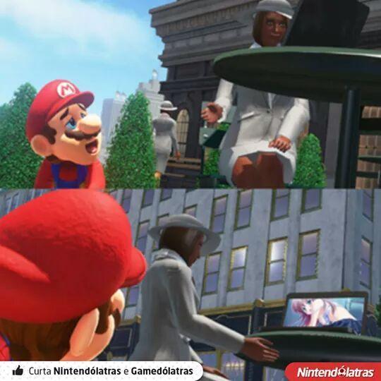 Mario safadinho em londres - meme