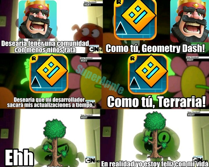 Terraria, Geometry Dash. - meme