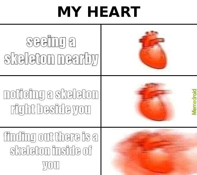 my heart when - meme
