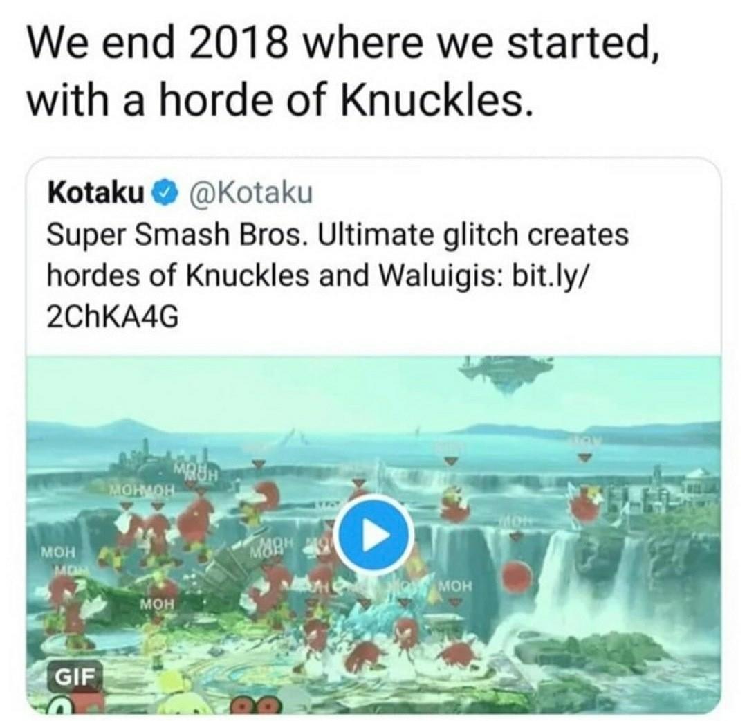 Knuckles for 2019 - meme