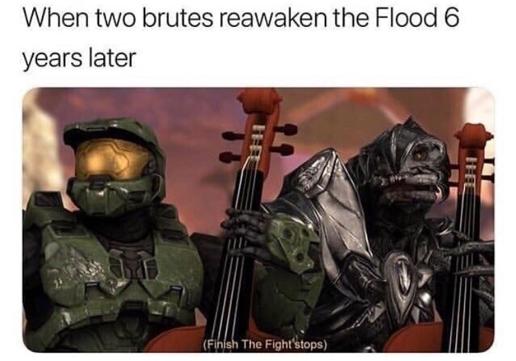 Master Chief and Arbiter: Are we a joke to you? - meme