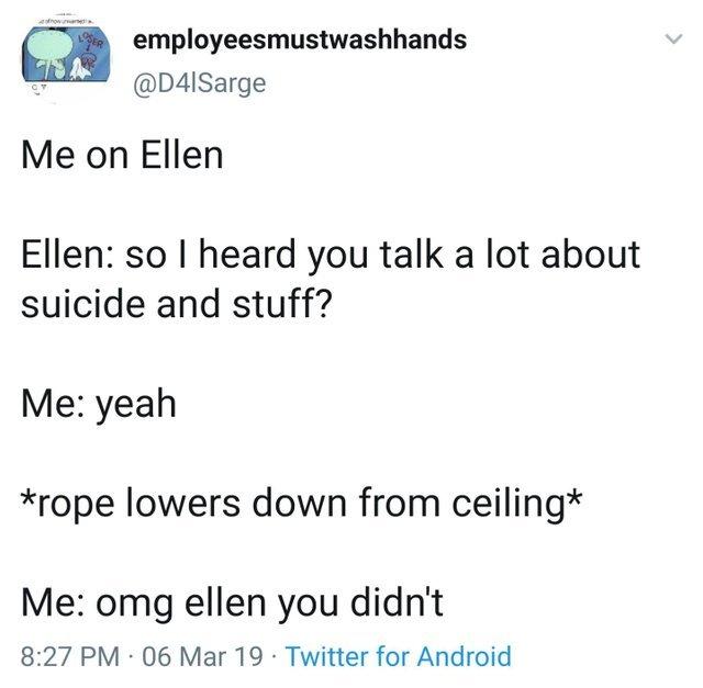 Me on Ellen - meme