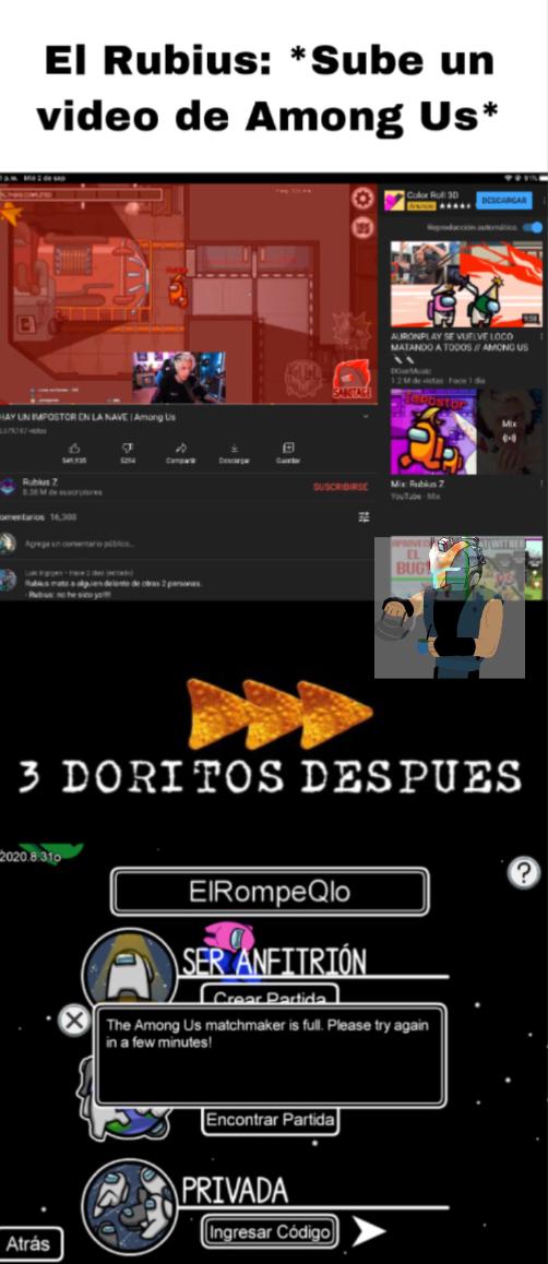Pobres de los servers :( - meme