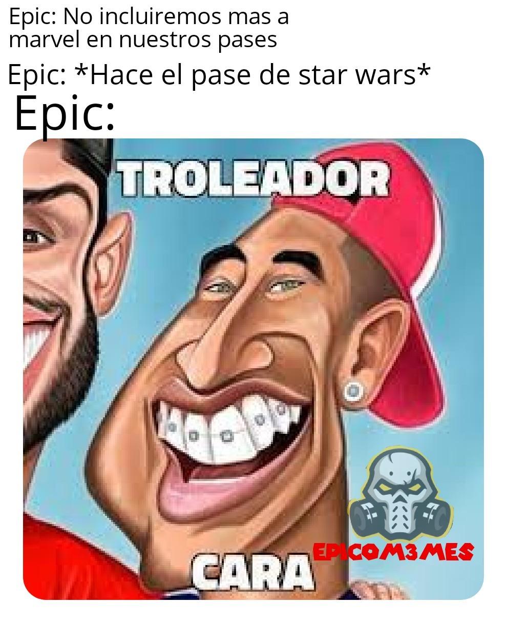Epic troleador cara - meme