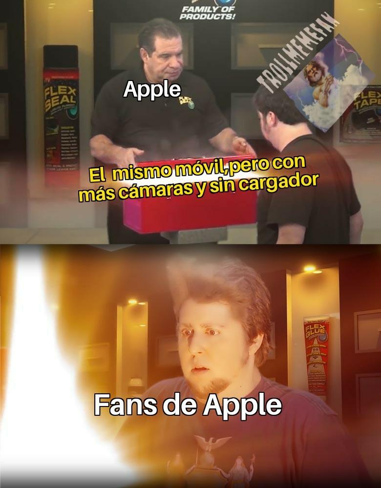 Unos kpos los de Apple - meme