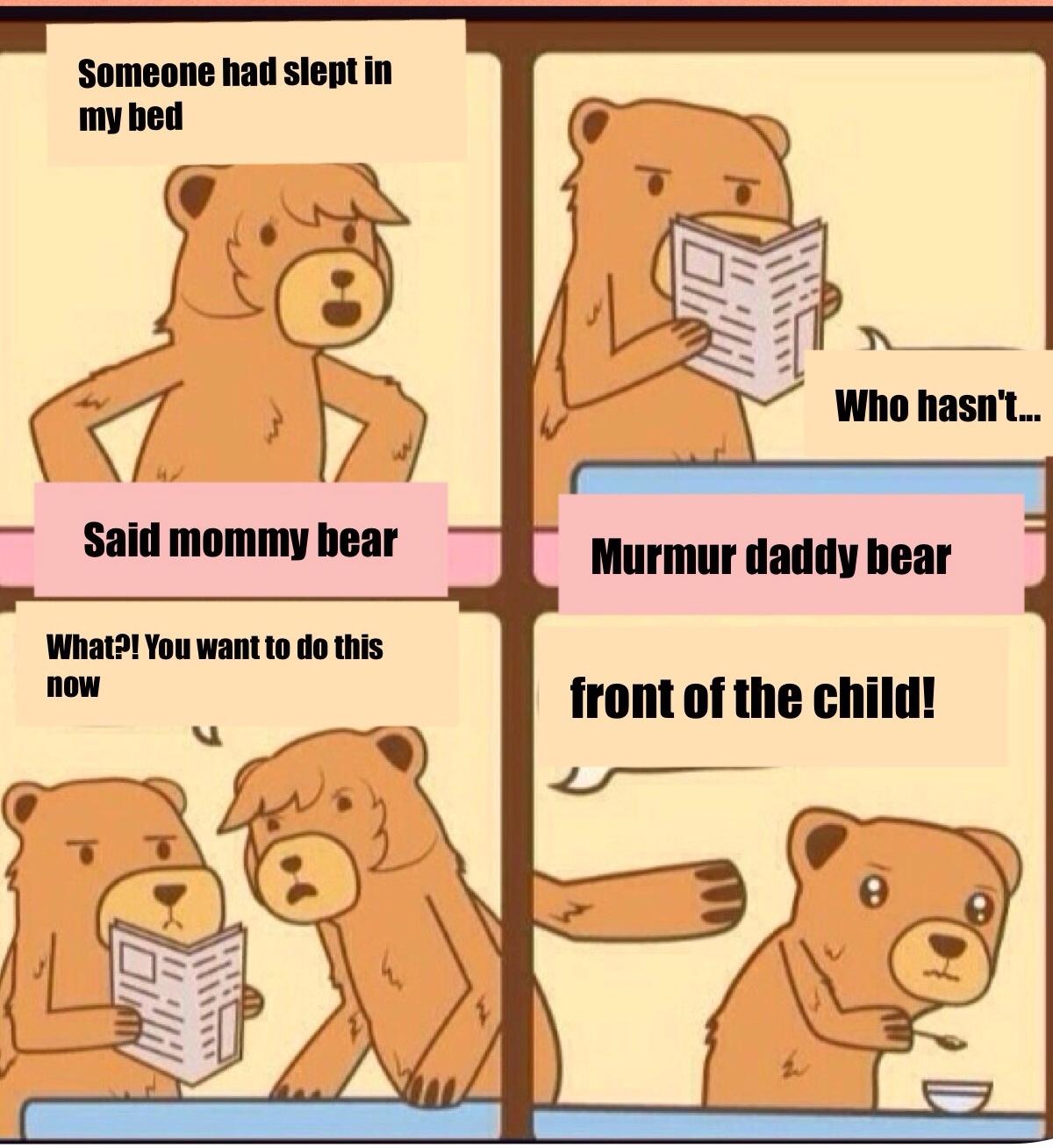 poor bears :v - meme