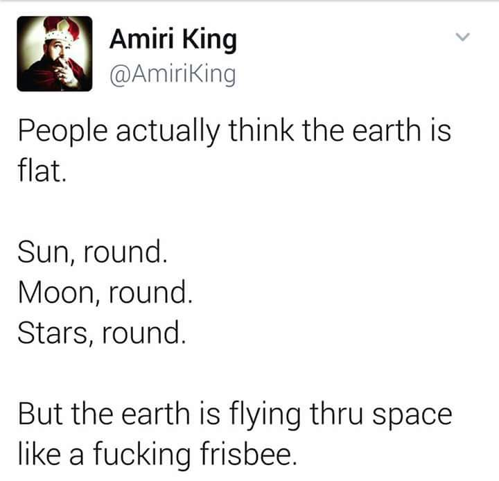 Frisbee planet. Makes total sense. - meme