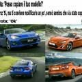 La Subaru BRZ e la Toyota GT86 si assomigliano :/ cito chi è ancora in circolazione