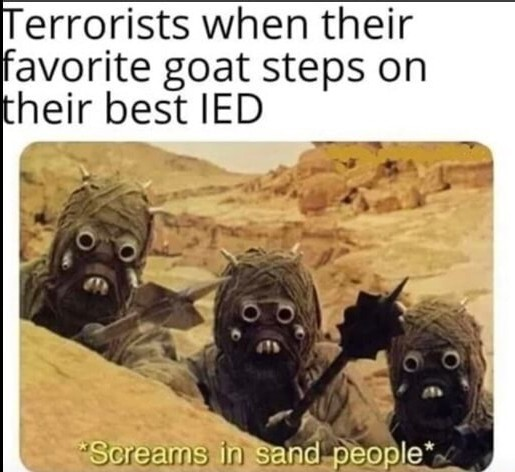 Dirty sand people - meme
