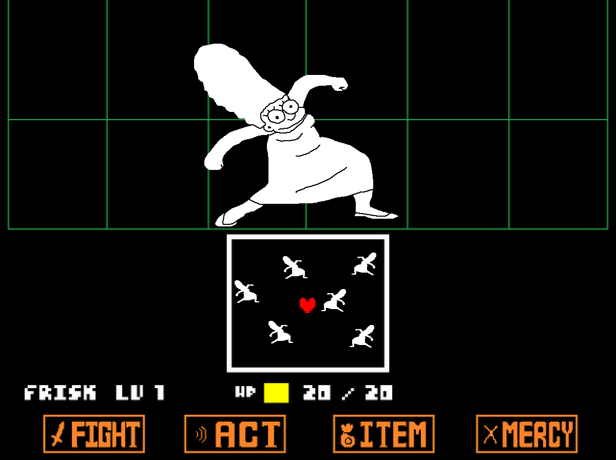 MARGE IN UNDERTALE CONFIRMED - meme