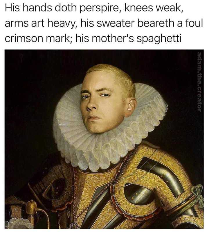 When the English teacher raps - meme