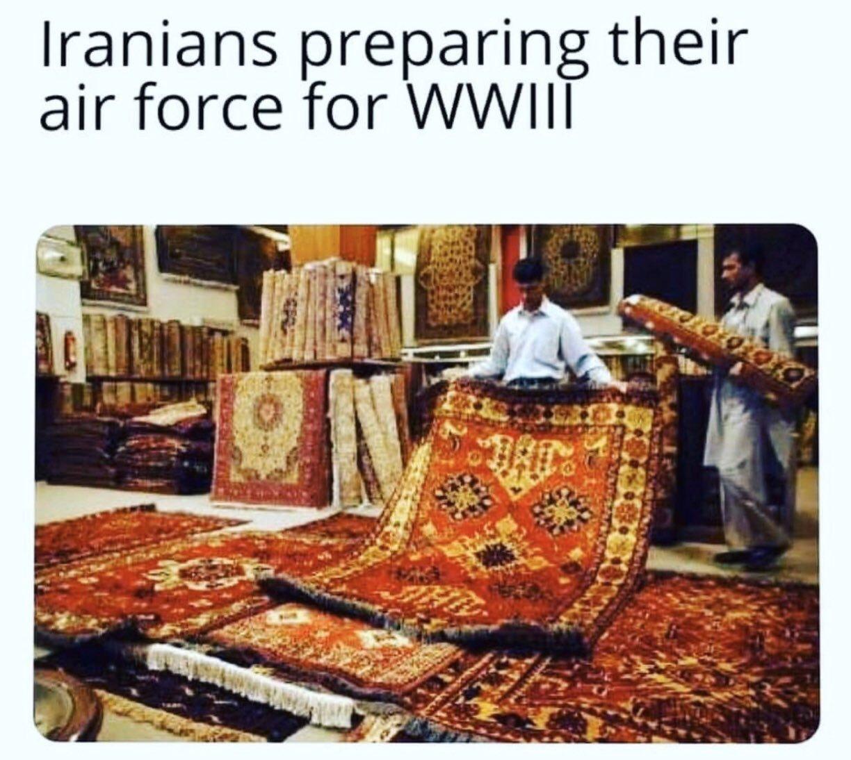 """""""Les Iraniens préparant leurs forces aériennes pour la WW3 - meme"""