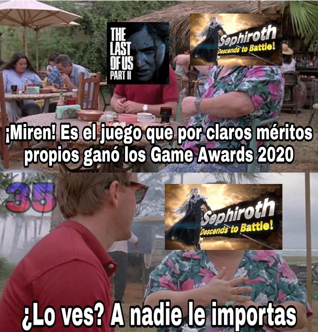 Sephiroth tiene más que merecido en Smash por mucho que lloren los niños anti-espadachines - meme