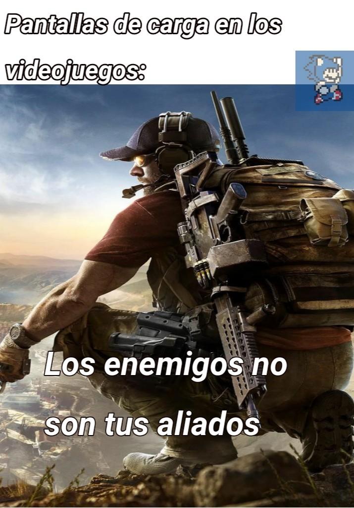 Pantalla de carga en los videojuegos - meme