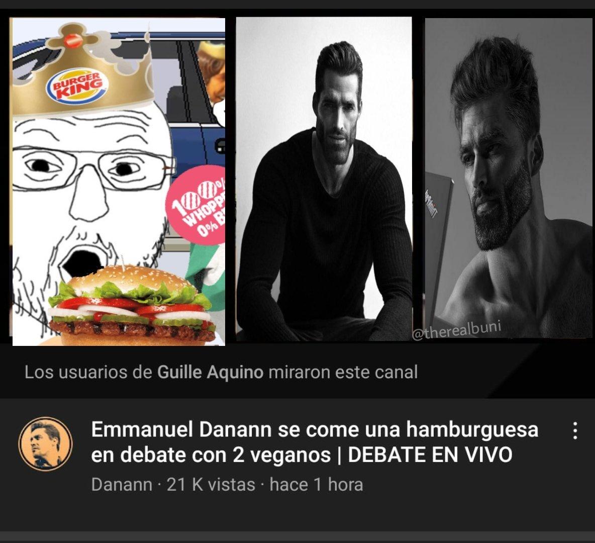 No man dannan comió hamburguesa en frente de dos vegano tremenda domada :soyjaka::soyjaka: - meme