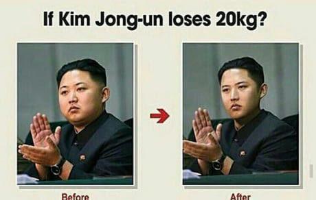 Y'en a quand-meme qui ont fait du photoshop pour savoir à quoi il ressemblerait si il avait 20kg en moins